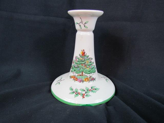 "Spode Christmas Tree 5 3/8"" Candle Stick Holder"