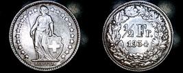 1934-B Swiss Half Franc World Silver Coin - Switzerland - $24.99