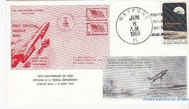 FIRST MISSILE MAIL 10th ANNIVERSARY MAYPORT, FL JUN 8 1969 #16/219 RE NI... - $2.98