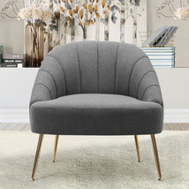 Imitation Cashmere Bucket Style Accent Chair, Grey - $220.00