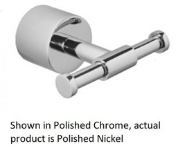 Jaclo 3501-DRH-PN Contempo II Double Post Robe Hook in Polished Nickel  - $19.75