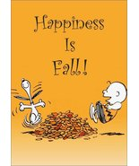 """Snoopy Charlie Brown Peanuts """"Happiness Is Fall"""" Stand-Up Display - Gift... - $15.99"""