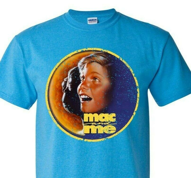 Mac and Me T-shirt Free Shipping retro 80s 90s movie cotton blend blue tee