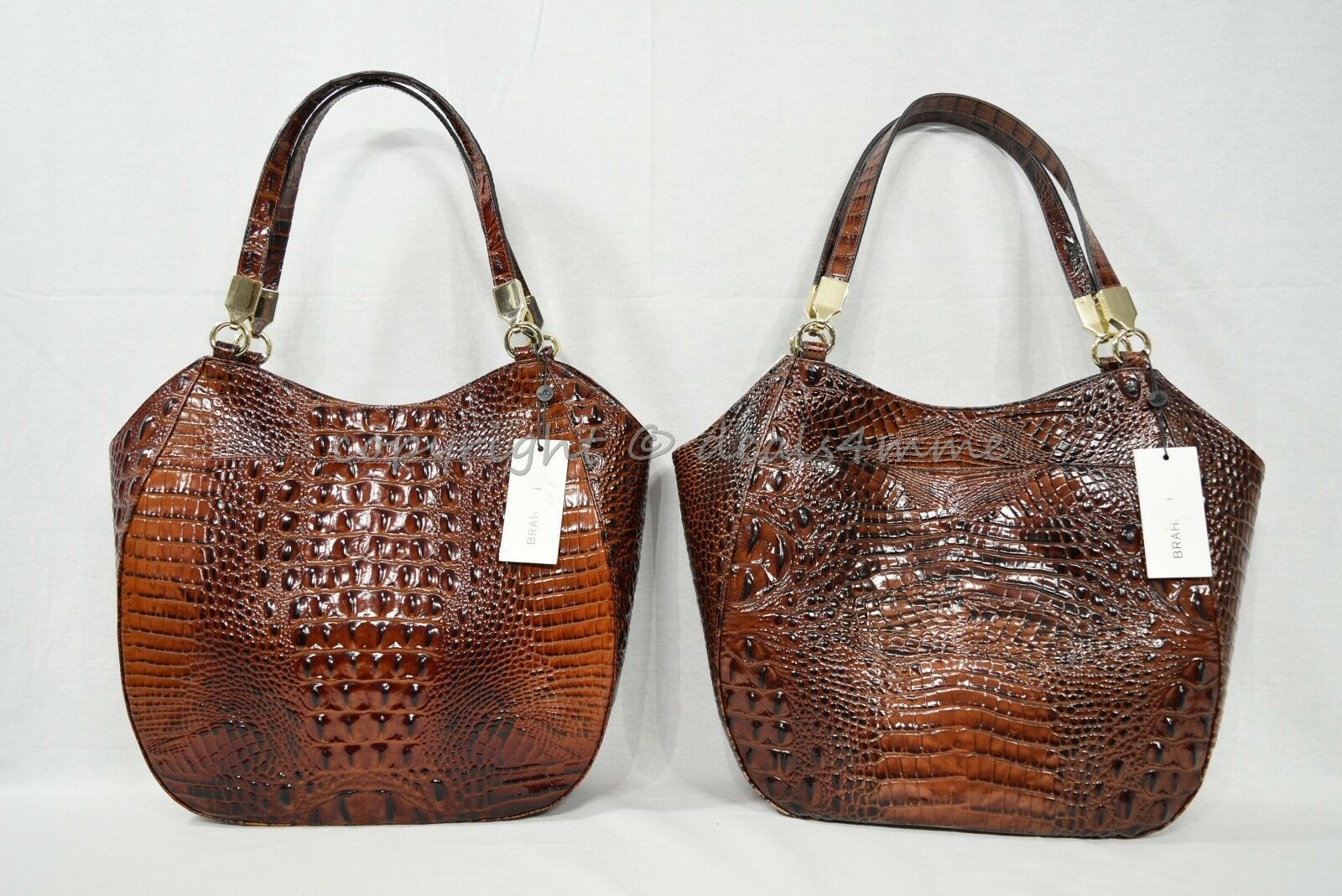 NWT Brahmin Marianna Leather Tote / Shoulder Bag in Pecan Melbourne image 12