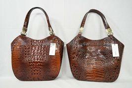 NWT Brahmin Marianna Leather Tote / Shoulder Bag in Pecan Melbourne image 12