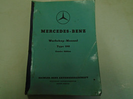 1960 Mercedes Benz Model 190 Service Manual FACTORY OEM Used Book Rare *** - $118.79