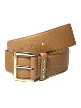 Michael Kors Wide Stretch Leather Belt, Medium Large 31, Luggage Brown - $40.00