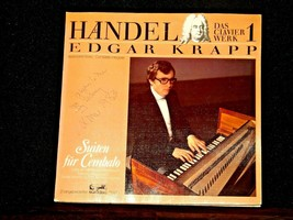 Handel Keyboard Works Vol 1  - Edgar Krapp AA-191745  Vintage Collectible Record