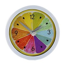 Koala Superstore Colorful Round Lemon Design Desktop Silent Alarm Clock Home Dec - $20.62