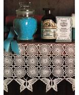 Advanced Butterflies Centerpiece Shelf Lace Piano Cover Tree Trim Doily ... - $8.99