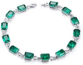 Aurora Tears Green Stone Bracelet Women 925 Sterling Silver Crystal Tenn... - $107.08