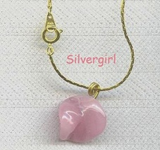 Glass Pendant Style Necklaces Pink Lampwork Glass Twist - $8.99
