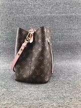 100% Authentic Louis Vuitton Monogram Neonoe Bucket Bag Pink Receipt Mint image 2
