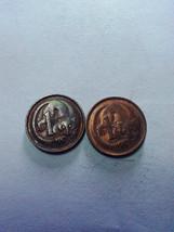 Lot 2 coins Australia 1 coin Elizabeth II 1980 1981 free shipping - $2.89
