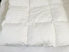 "Northern Nights White Cotton Down Comforter Full Queen 86"" x 86"" image 4"