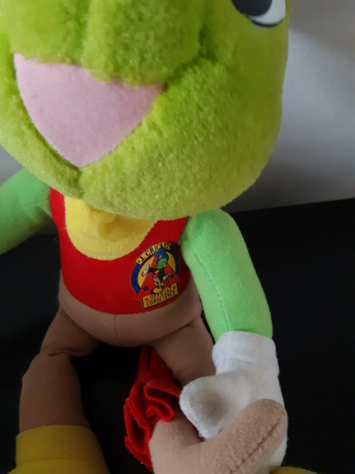 "Vintage Disney Jiminy Cricket Plush Official Conscience 15"" Long Pinocchio Decor"