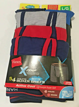 Hanes X-Temp Boxer Briefs Boys LG (14-16) Active Cool 5 Pair Pack Red Bl... - $18.35