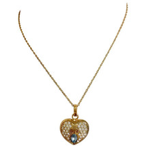 Vintage LANVIN golden skinny chain necklace with heart logo charm pendant top - $218.00