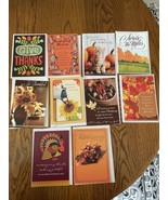 Mixed Lot of 10 New Mostly Hallmark Thanksgiving Day Cards with Envelope... - $10.64