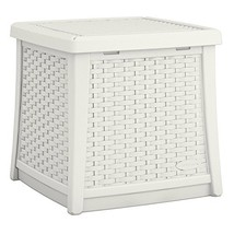 Suncast Elements End Table with Storage - All-Weather, Lightweight, Resi... - $48.19