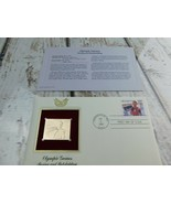 Boxing & Bobsledding Olympic 22kt Golden Replica Stamp 1990 First Day St... - $19.79
