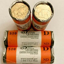 Lot of 4 Rolls 2006 NORTH DAKOTA ND Denver D State Quarters U.S. Mint Coin - $74.95