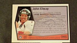 John Elway #7 Denver Broncos and Dan Reeves Trading Cards AA-19FTC3005a Vintage image 11