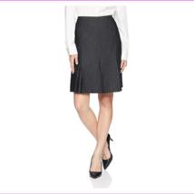 Kasper Women's Petite Pin Dot Pleated Flare Skirt  - $74.61