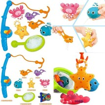 Bath Toy, Fishing Floating Squirts Toy And Water Scoop With Organizer Ba... - $21.99