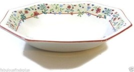 "Enchantment Red Trim Johnson Brothers Heritage 9"" Octagonal Oval Vegetab... - $18.34"