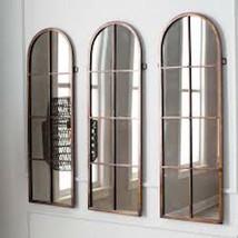 Palladian Restoration Hardware Style Window ARCHED Mirror WALL Floor Dressing  - $776.57
