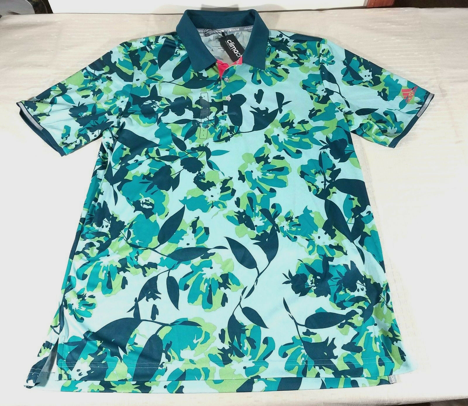 9f5358357caf4 Adidas Golf Climachill Floral Stretch Polo and 27 similar items