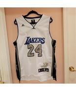 Very rare Kobe Bryant #24 Los Angeles Lakers Adidas Jersey White/Blue/Gold  - $105.00