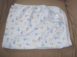 Carters Child Of Mine Lovable Cutie Monkey Frog Ant Bug Abc Blue Cotton Blanket - $25.24