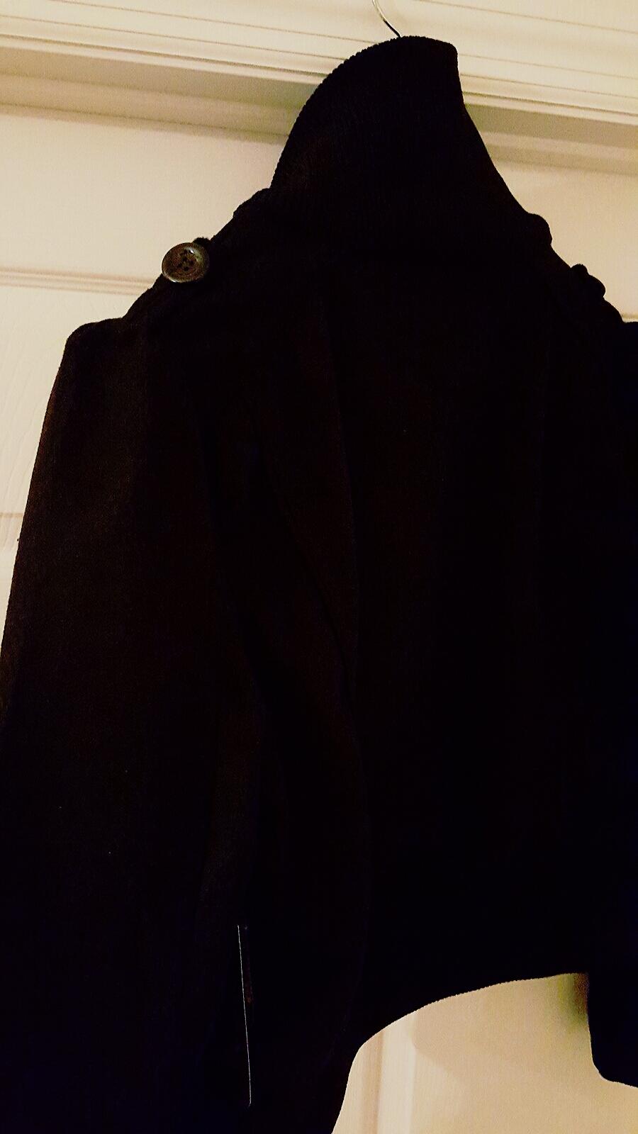 Juniors Black Puff Sleeve Military Bomber Jacket 2XL