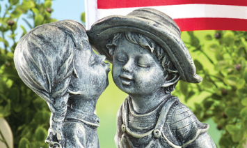 Patriotic Outdoor Kiss