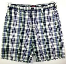 IZOD Shorts Mens Size 38 Golf Luxury Sport 100% Cotton Blue Green Gold P... - $22.72