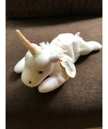 Ty Beanie Baby Mystic Unicorn Iridescent Horn With Tag Retired 1993 Rare - $989.01