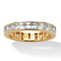 5.29 TCW Princess-Cut Cubic Zirconia Eternity Band in 10k Gold - $192.49