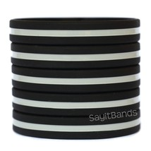1 Barbed Wire Thin Silver Gray Line Wristband Corrections Officers Bracelet Band - $5.82