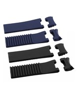 22mm Black Blue Silicone Rubber Diver Watch Strap Band For ULYSSE NARDIN... - $34.99