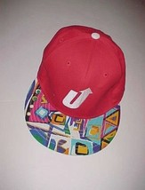 Upstair Logo Adult Unisex Artist Red Multi-Color Blue Green Yellow Cap O... - $22.76