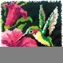 "Dimensions Latch Hook Kit 16""X16""-Hummingbird - $39.55"