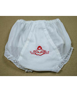 VINTAGE IC ISAACSON CARRICO GIRL XL WHITE CHEERLEADER DIAPER COVER EYELE... - $9.89