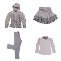 Kate Mack Girls Gray Size 2T 4pc Velour Jacket+Skirt+Top+Leggings Outfit... - $107.53