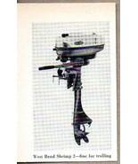 1960 Magazine Photo West Bend Shrimp 2 Outboard Motors - $8.85