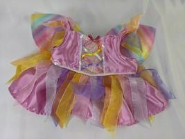 Build a Bear Fairy Rainbow Dress Wings Stuffed Animal Toy - $9.95