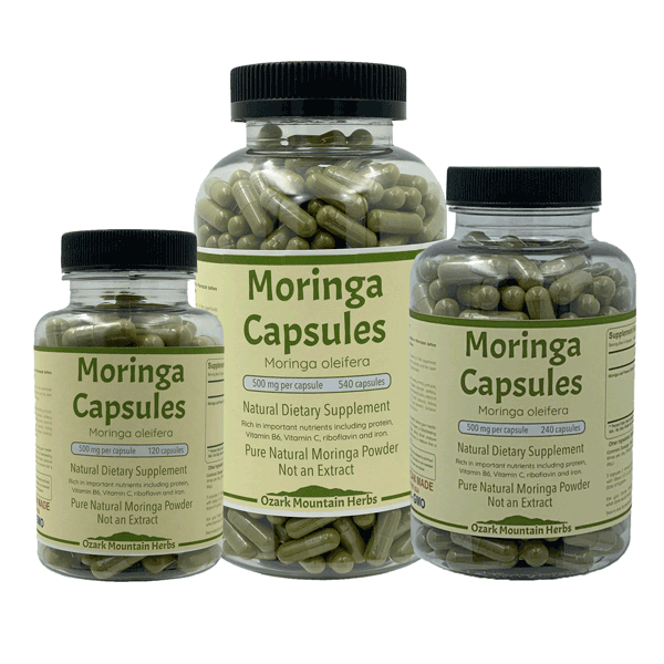 Primary image for Moringa Capsules made with Organic Moringa no fillers