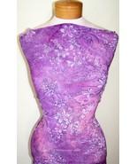 Violet and Lavender Glitter Tye Dye Lycra Stretch Fabric 1 Yard 18 Inches - $35.00