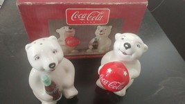 Coca Cola Playtime Cubs Salt And Pepper Shakers  \with Box from Gibson - $19.80